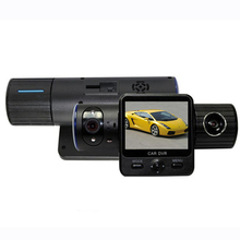 X6000 Car DVR 2 0 inch LCD Rotatable Dual Camera Lens GPS Car DVR with G