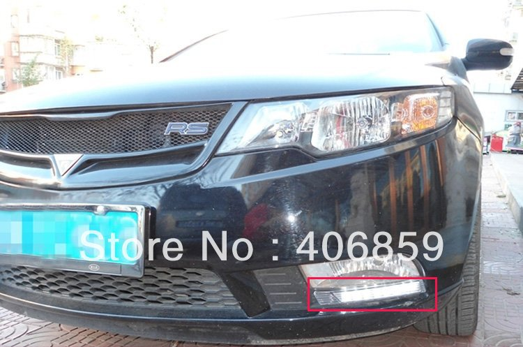 2009-2012 KIA Cerato/Forte LED Daytime running lights front Fog lamp Fog Lights bhh ,car styling(China (Mainland))