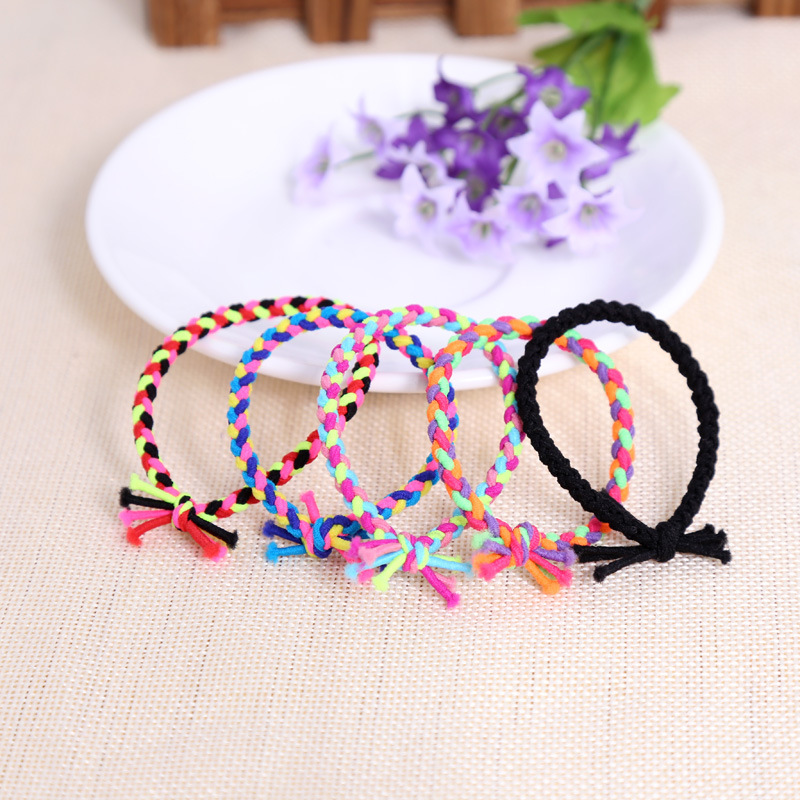 2015 Girl's hair accessories multicolor stripes ears ring Baby ears headband Women's ears head kids hair band ponyta * 1PC(China (Mainland))