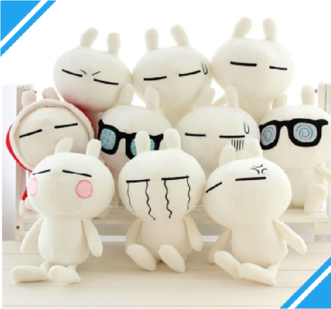 New Arrival Cute Genuine Cartoon Toys Plush Rabbit Tuzki Doll With 10 Expressions ,Super Quality Popular Toys For Girls(China (Mainland))