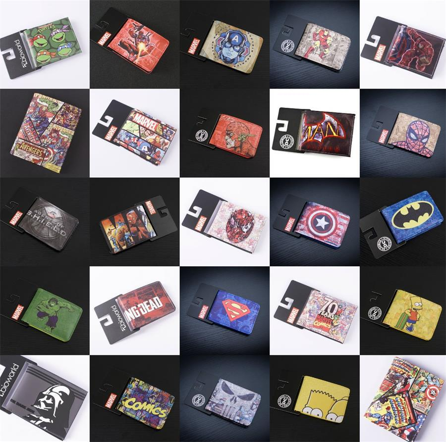 COMICS DC MARVEL THE AVENGERS HULK/IRON MAN THOR/CAPTAIN AMERICA/SUPERMAN PURSE LOGO CREDIT OYSTER LICENSE CARD HOLDER WALLET(China (Mainland))