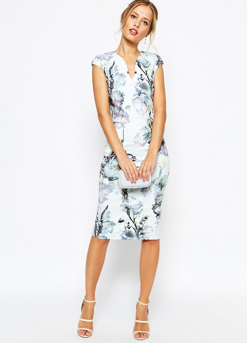 Hot sale Floral Print Women Sheath Dress Fashion V-Neck Mini Dresses(China (Mainland))