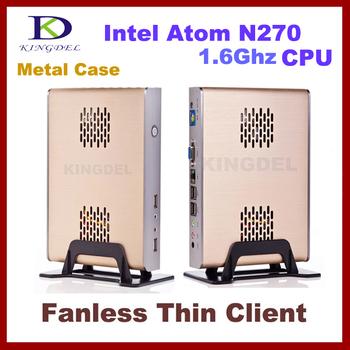 2015 New Thin Client Computer, Mini PC, Intel Atom N270 CPU, 1GB RAM, 8GB SSD, WiFi, Windows XP, Fanless