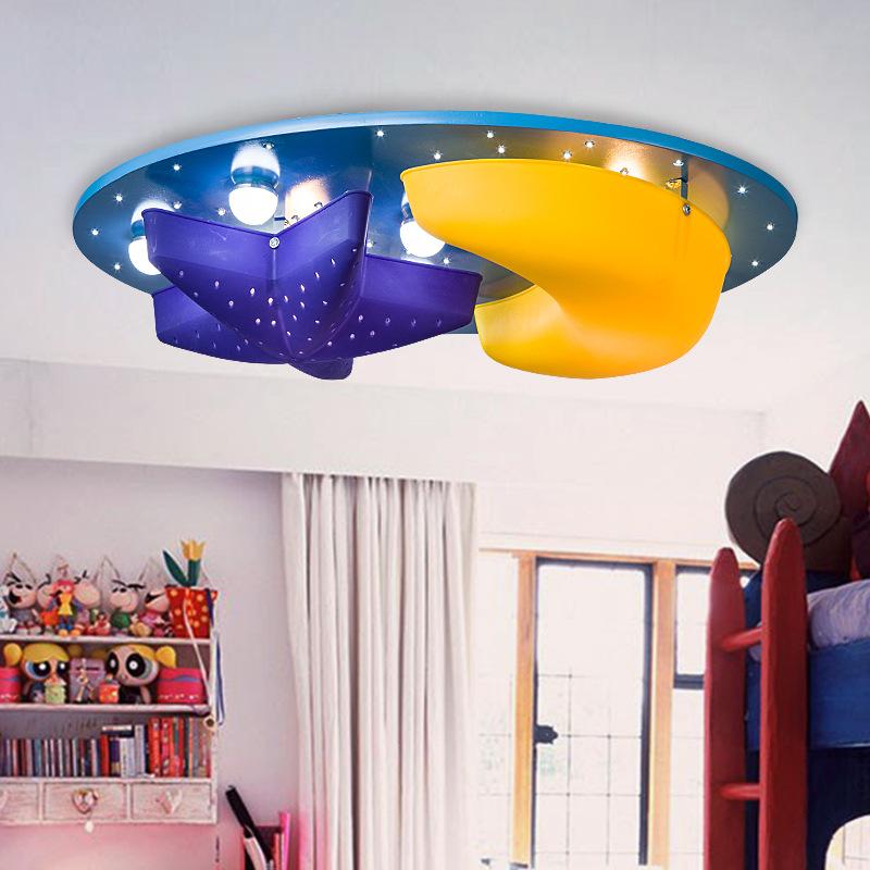 gy lighting creative star moon cartoon ceiling light fixtures children 39 s bedroom laras boys and children bedroom lighting