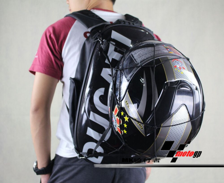 NEW Ducati Hard Shell Motorcycle Backpack Laptop Helmet Carry 2L ...