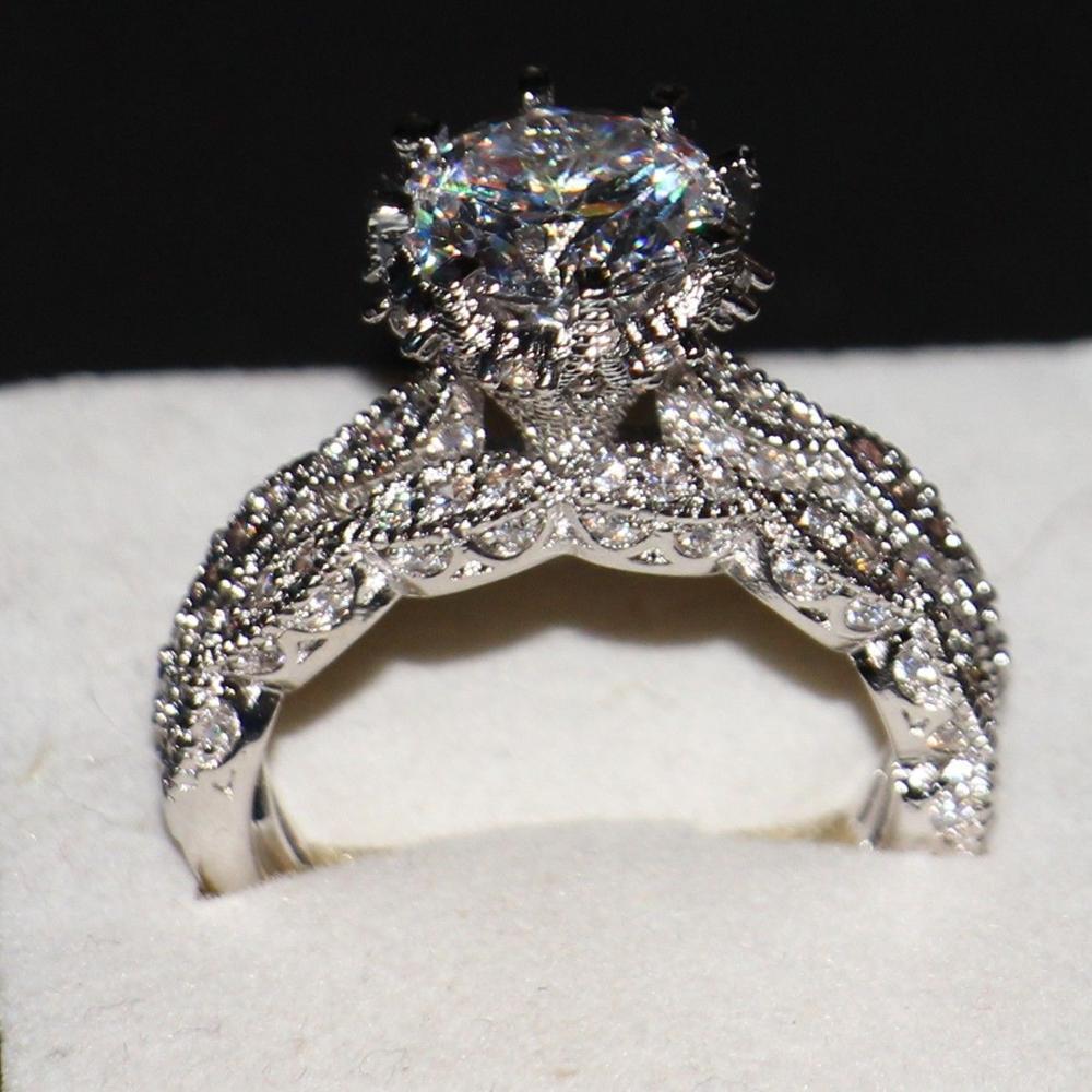 Victoria Wieck Luxury Jewelry Diamonique 925 Sterling Silver Wedding Topaz CZ Diamond Women Bridal Women Ring set With Box Gift(China (Mainland))