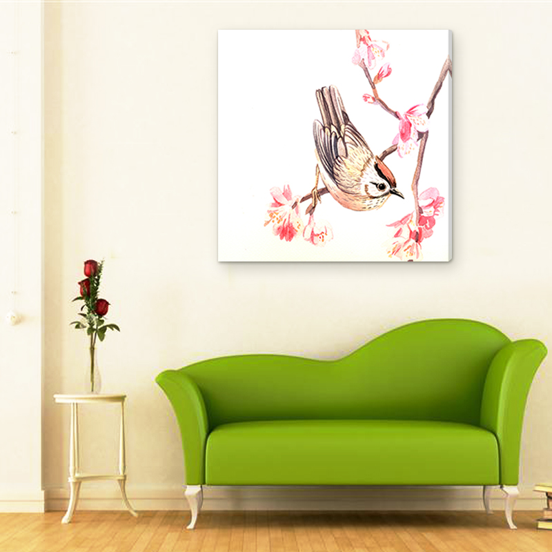 Wall Hangings Art Decorative Oil Painting for Friends Home Decoration Modern Abstract Bird Painting for Wall Decoration(China (Mainland))