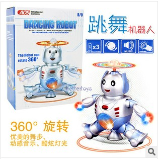 Electric robot with infrared rotating toy boy birthday gift(China (Mainland))