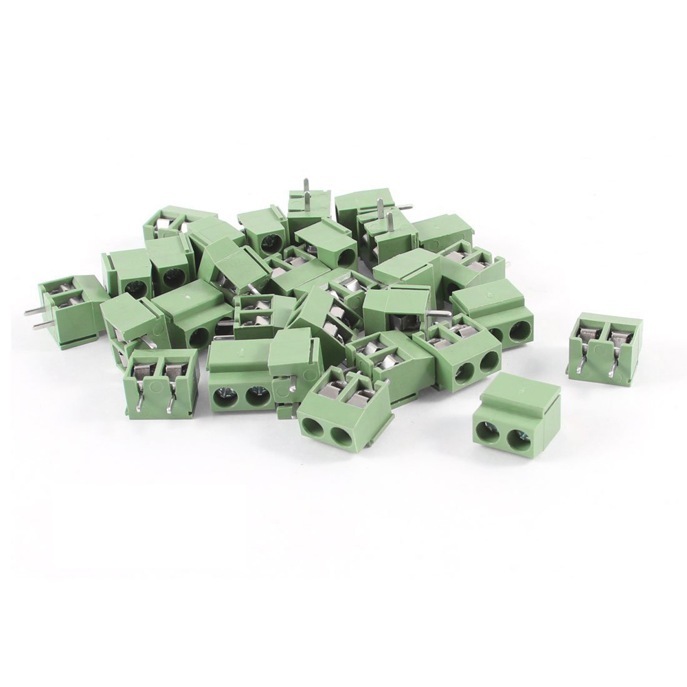 USA Delivery 30Pcs 2 Pole 5mm Pitch PCB Mount Screw Terminal Block 8A 250V(China (Mainland))