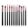 12Pcs Rose gold makeup brushes professional Eye Shadow Foundation Eyebrow oval Brush Cosmetic make up brush