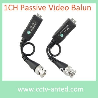 Wholesale 100pcs/lot 1 Channel Passive CCTV UTP Video Balun with lightning protection Twisted BNC Video Balun(China (Mainland))