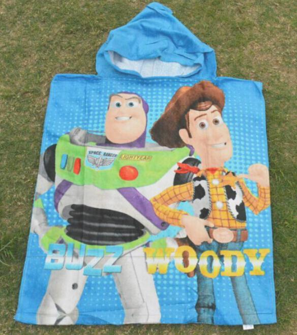 New 2015 Toy Story Hooded Towel For Children Cartoon Bath Towel baby boys cartoon Beach Towels wholesale 5pcs/lot(China (Mainland))