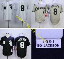 Cheap Men 8 Bo Jackson Jersey Embroidery Logos Chicago White Sox Throwback Baseball Retro Vintage Best Quality Aimee Smith Store(China (Mainland))