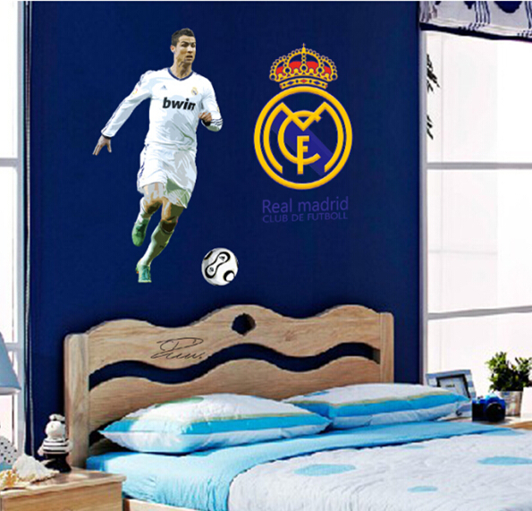 World Cup Soccer Football Star Ronaldo Wall Stickers School Sports Wall  Decal For Boys Kids Bedroom Poster Wallpaper DF9906 Part 90