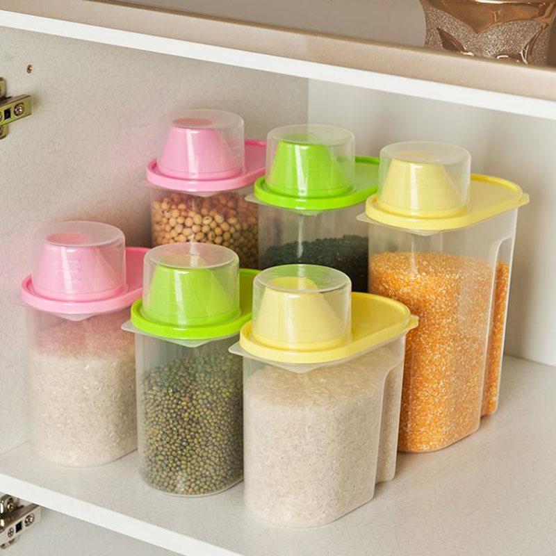 Plastic food storage Box grain Container Kitchen Organizador Tools(China (Mainland))