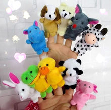 10PCS Farm Zoo Animal Finger Puppets Toys Boys Girls Babys Party Bag Filler NEW(China (Mainland))