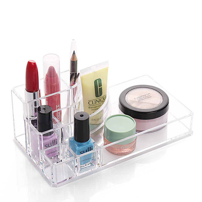 New style Cosmetic jewelry box Creative transparent desktop is received Composite powder box(China (Mainland))