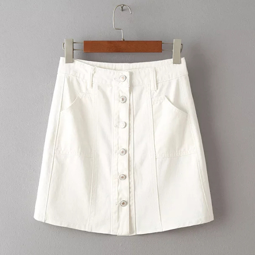 Free shipping BOTH ways on womens white denim skirt, from our vast selection of styles. Fast delivery, and 24/7/ real-person service with a smile. Click or call
