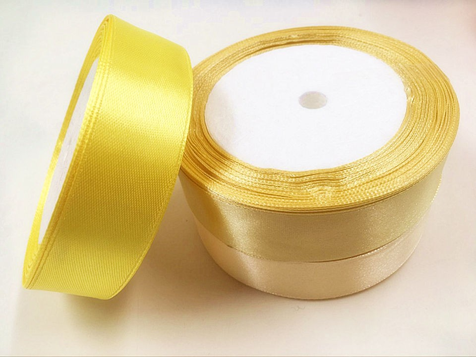 25 mm (25 yards/a) artificial pure color ribbon bowknot adornment DIY handmade gift box holding wedding flowers collage supplies