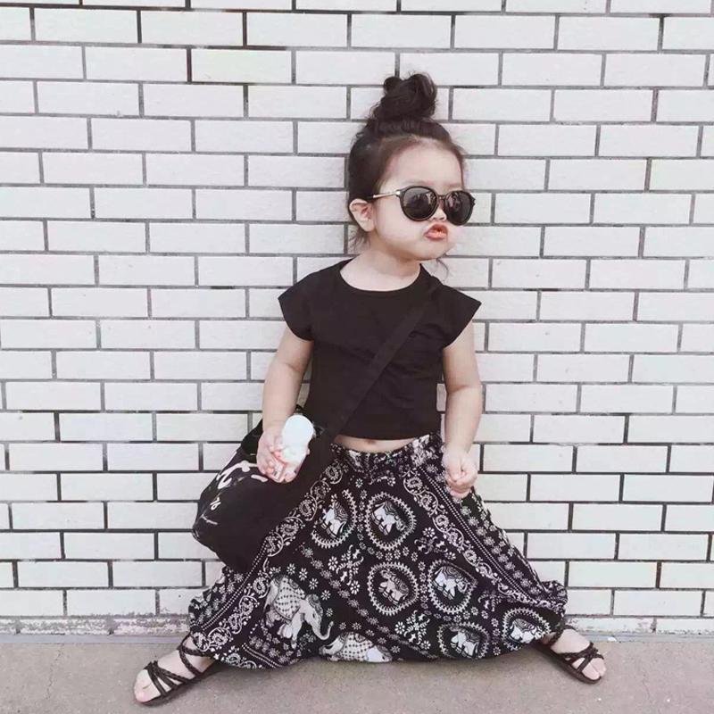 Hot sale girls clothing set summer girl tops+baby harem pants fashion kids clothes girls outfits children clothing set tracksuit(China (Mainland))