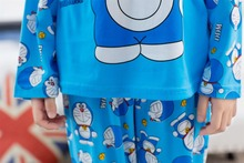 Retail 2015 New Autumn Baby Boys Girls Kids Children Cartoon Pijamas Pyjamas Sleepwear Pajamas Set Clothing