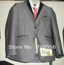 5sets/lot grey plaid boys Wedding suits