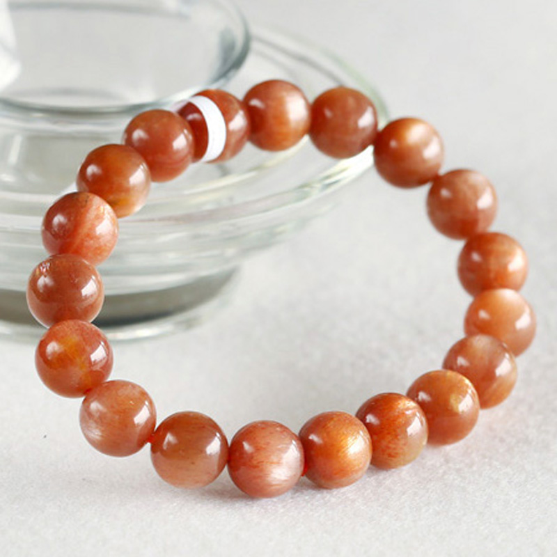 Free shipping Natural Gold Sunstone Stretch Bracelet Round Beads 10mm Sunstone Fit Jewelry DIY Wholesale discount 03500<br><br>Aliexpress