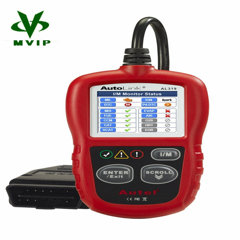 Flash Sale Original Auto Diagnostic DIY Code Reader Autel AutoLink AL319 OBD2 Code Scan Tool AL-319 Free Online Update Free(China (Mainland))
