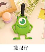 Kawaii Cartoon Silicone Luggage Tag Travel Accessories Suitcase Bag Tag KCS(China (Mainland))