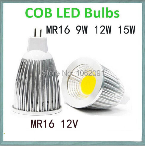 1pcs/lot - high power MR16 / GU5.3 12V 3W 9W 12W 15W led Dimmable cob spotlight lamp bulb warm cool white GU5.3 220V(China (Mainland))