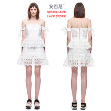 Buy New runway womens summer dresses sexy club dress 2016 brand self portrait lace Hook flower sexy Hollow mini dress for $20.14 in AliExpress store