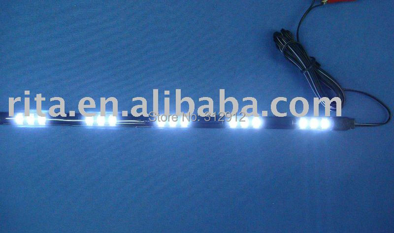30cm long 15pcs 5050 SMD LED flexible strip, red,green, blue,yellow,white, warm white available;DC12V input(China (Mainland))