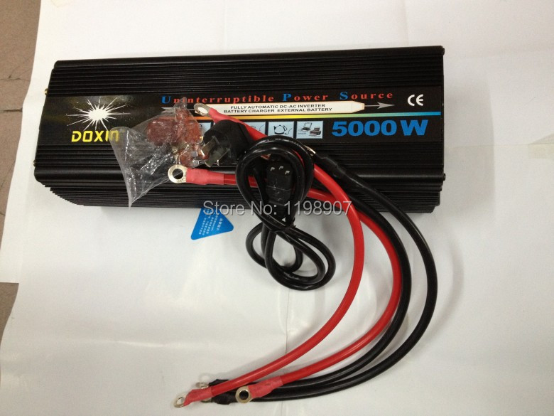 Off Grid Tie 5000W DC12V/24V UPS inverter with battery charger for Wind Solar System<br><br>Aliexpress