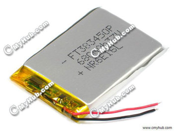 3.7V 680mAh For NR6E16L FT383450P 383450P 3.8x34x50mm (HxWxL) Lipo Lithium Polymer Rechargeable Battery