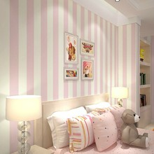 Cozy Bedroom Vinyl Wallpaper Blue White Stripe Wall paper Wallpaper Roll Modern Feature Vertical Striped R10(China (Mainland))
