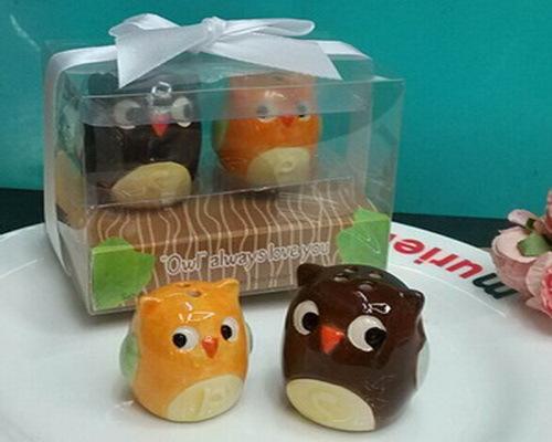 200pcs 100boxes Lot Ceramic Owl Salt And Pepper Shakers