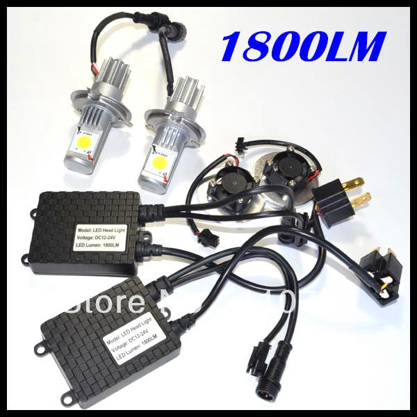 HOT SALE!!! car headlight led bulb H4 50W 1800Lumens 1set Car Auto Headlight Free shipping<br><br>Aliexpress