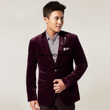Mens Purple Velvet Blazer Photo Album - Reikian