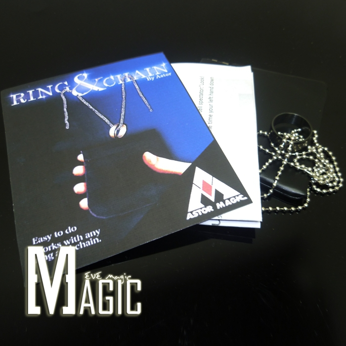 ring and chain by astor magic close-up stage TV-show card magic tricks products for magicians(China (Mainland))