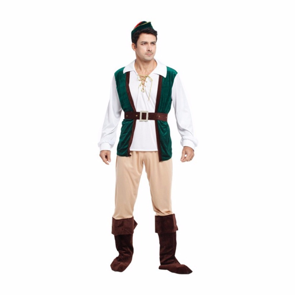 Shanghai Story Halloween Costume Adult Forest Prince Cosplay Costume Hunter Clothes Anime Character Uniform Clothing for Men(China (Mainland))