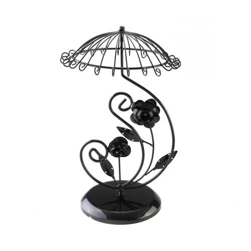 Black Metal Rose Umbrella Necklace Jewelry Display Stand Holder(China (Mainland))