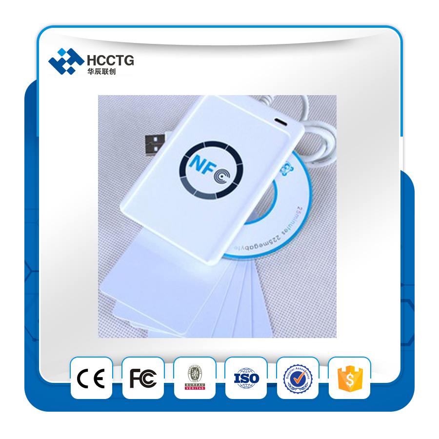 NFC ACR122U RFID smartcard USB Port Smart Card Reader & Writer with UID writeable clone S50 IC Access Control Card(China (Mainland))