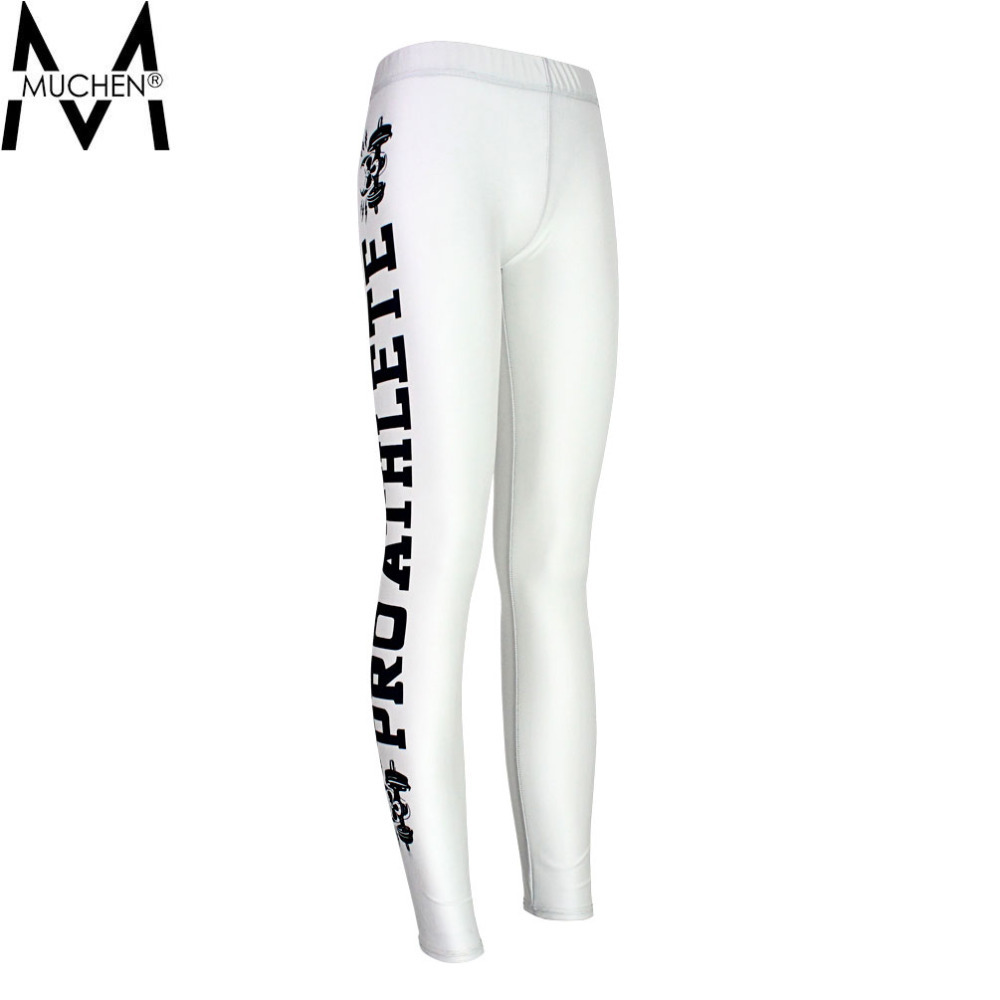 Mu Chen 2015 Sexy Women Leggings Side Letters Sports Pants Force Exercise Elastic Fitness Running Trousers Pants S16-26(China (Mainland))