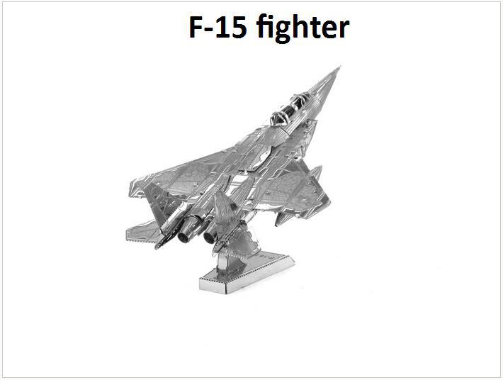 F-15 fighter PLANE Building Kits 3D Scale Models DIY Metallic Nano Puzzle Toys for adult/kids, 1PC PRICE NO TOOL diy METAL TOY(China (Mainland))