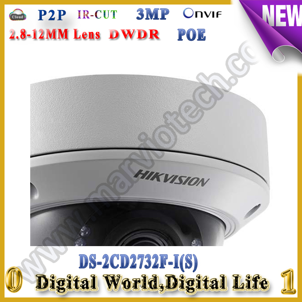 DHL Free Shipping Hikvision vandalproof ds-2cd2732f-is camera IP POE Camera 3MP waterproof 2cd2732f-is camera<br>