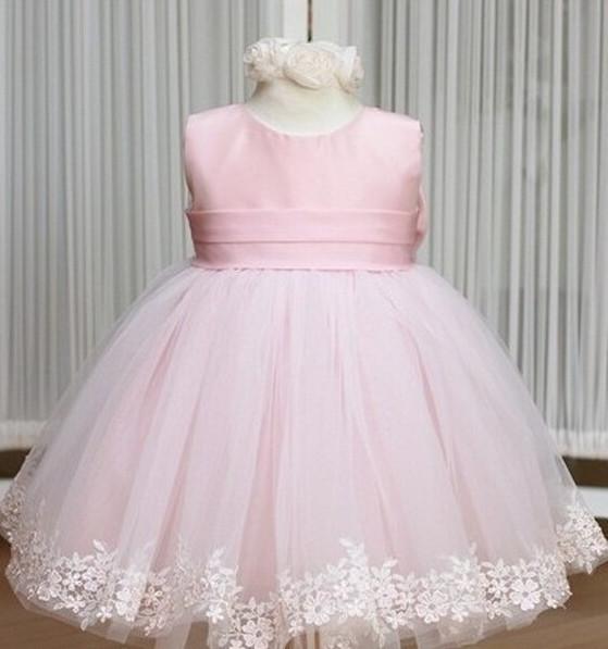 New Girls Dress Princess dresses children's wear veil Big bow girl wedding Birthday Party Clothing Baby dress pink white red(China (Mainland))