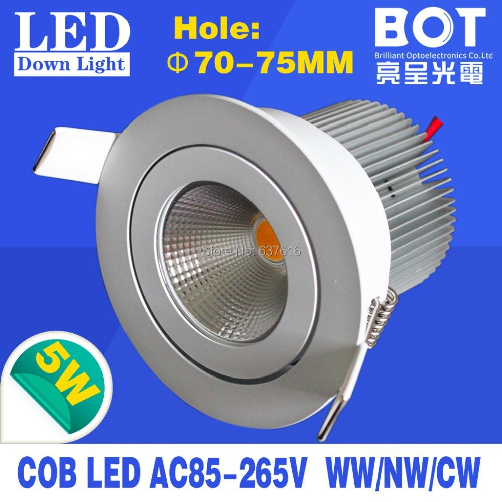12pcs/lot led recessed ceiling light 6W high brightness cob led lighting house/saloon/restaurant indoor use(China (Mainland))