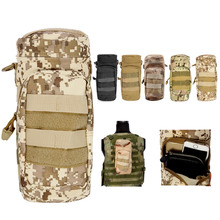 Camo Tactical Army Military Water Bottle Carrier Pouch Bag Outdoor Tactical Gear With Stuff Pouch Ultility Belt Fixed Pouch Bag(China (Mainland))