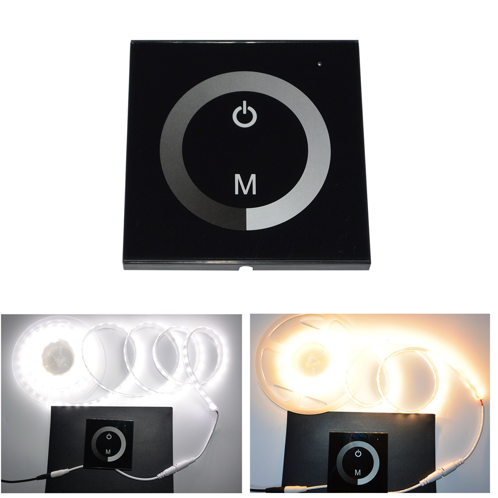 Fashionable LED 12-24V DC Touch Panel Dimmer Switch for Sigle Color LED Strip LED Lights  Bulbs(China (Mainland))