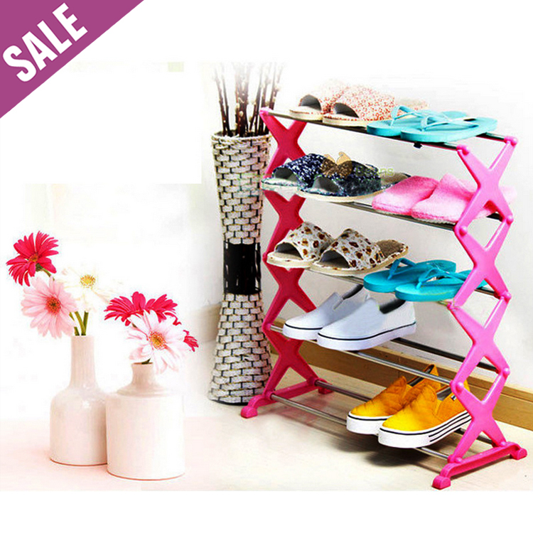 Гаджет  Quality&Cheap Stainless steel foldable 5-Tier shoe rack/shoe shelf/shoe cabinet, stand for shoes storage shoes, shelf for books None Мебель